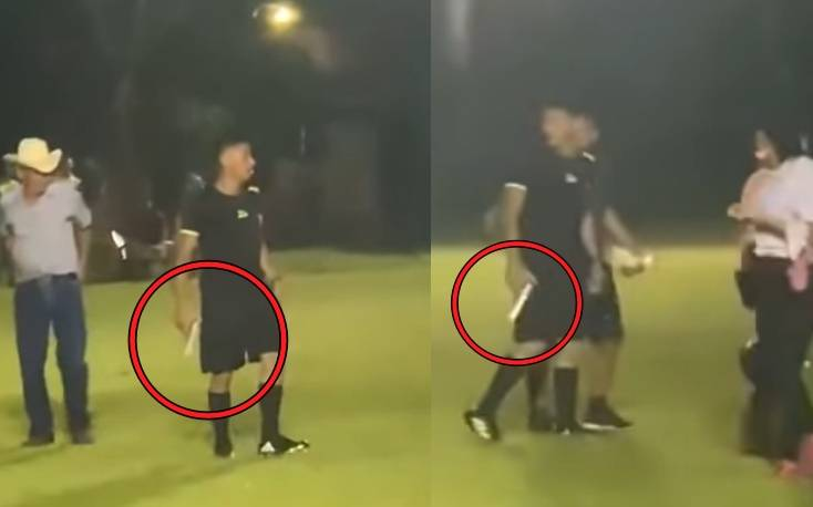 เปาโหดพกปืนเคลียร์ปัญหาแฟนบอลหลังเกม